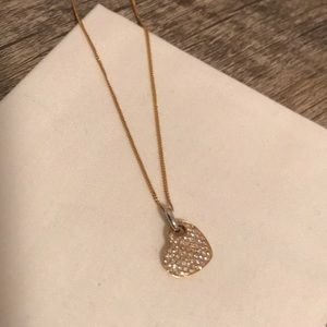 Jewelry - Genuine 14k Gold and Diamond Heart Necklace